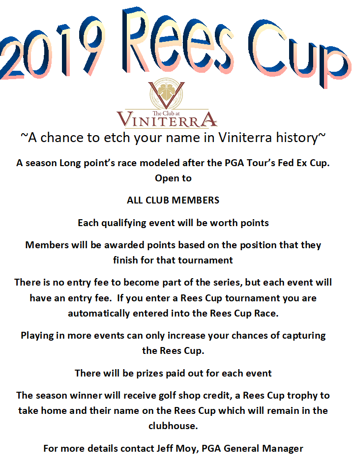 Rees Cup Flyer